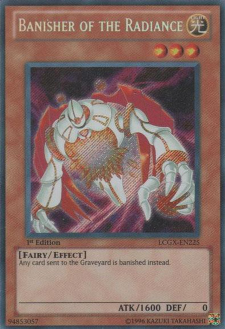 YuGiOh GX Trading Card Game Legendary Collection 2 Secret Rare Banisher of the Radiance LCGX-EN225