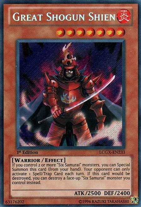 YuGiOh GX Trading Card Game Legendary Collection 2 Secret Rare Great Shogun Shien LCGX-EN233