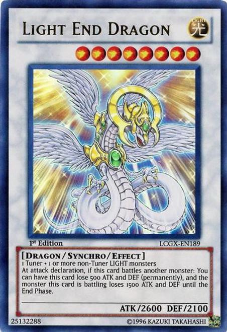 YuGiOh GX Trading Card Game Legendary Collection 2 Ultra Rare Light End Dragon LCGX-EN189