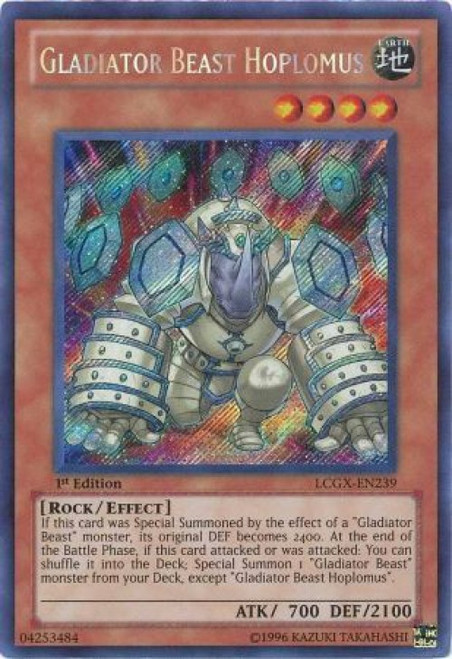 near Mint! YuGiOh!! Secret Rare Gladiator Beast Bestiari LCGX-de237