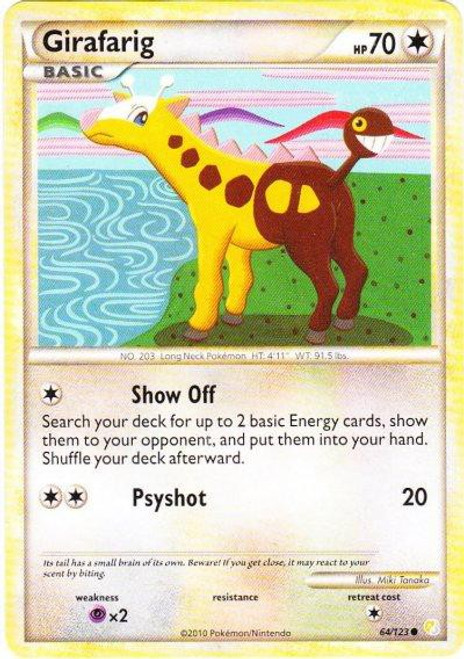 Pokemon HeartGold & Soulsilver HeartGold SoulSilver Common Girafarig #64