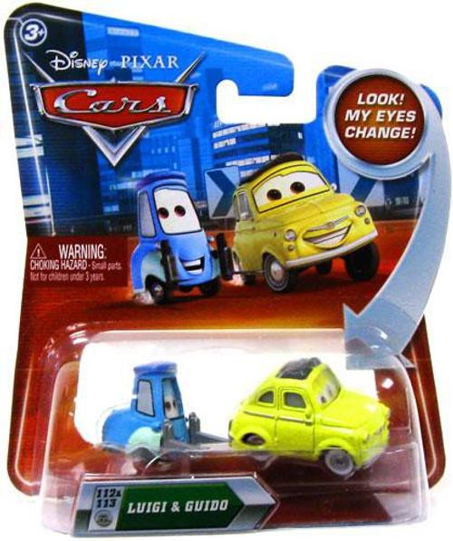 Disney / Pixar Cars Lenticular Eyes Series 2 Luigi & Guido Diecast Car