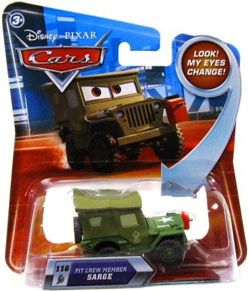 Disney / Pixar Cars Lenticular Eyes Series 2 Pit Crew Member Sarge Diecast Car