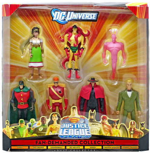 DC Universe Justice League Unlimited Fan Demanded Collection Exclusive Action Figure 7-Pack