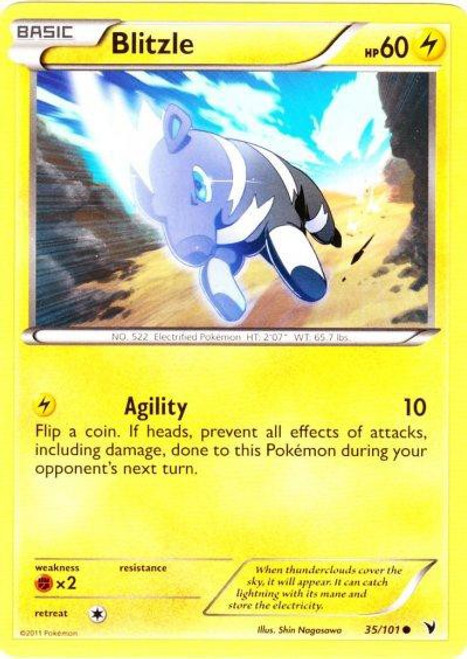 Pokemon Black & White Noble Victories Common Blitzle #35