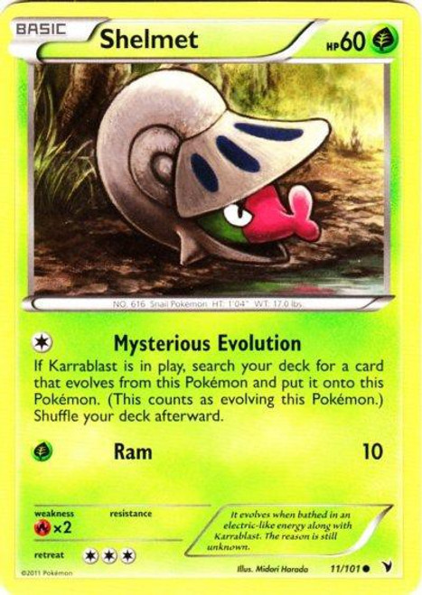Pokemon Black & White Noble Victories Common Shelmet #11