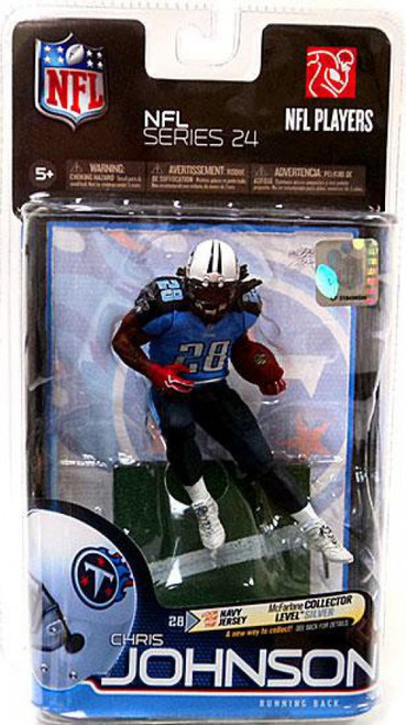 McFarlane Toys NFL Tennessee Titans Sports Picks Series 24 Chris Johnson Action Figure [Light Blue Jersey]