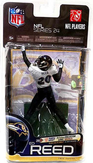 McFarlane Toys NFL Baltimore Ravens Sports Picks Series 24 Ed Reed Action Figure [White Jersey]