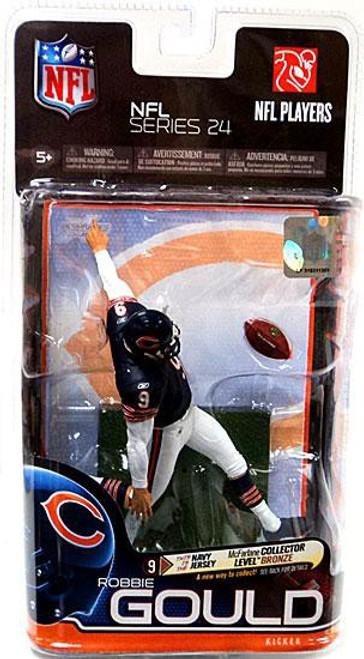 McFarlane Toys NFL Chicago Bears Sports Picks Series 24 Robbie Gould Action Figure [Dark Blue Jersey]
