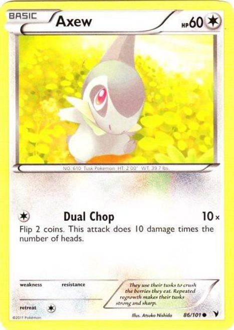 Pokemon Black & White Noble Victories Common Axew #86