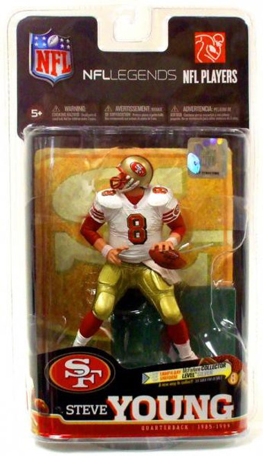 McFarlane Toys NFL San Francisco 49ers Sports Picks Legends Series 6 Steve Young Action Figure [White Jersey]