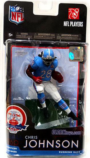 McFarlane Toys NFL Tennessee Titans Sports Picks Exclusive Chris Johnson Exclusive Action Figure [Houston Oilers AFL Jersey]