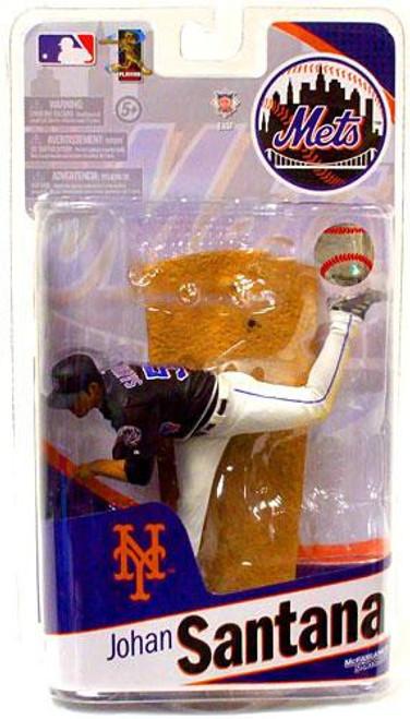 McFarlane Toys MLB Sports Picks 2010 New York Mets Johan Santana Action Figure [Black Jersey]