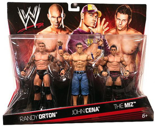 WWE Wrestling Randy Orton, John Cena & The Miz Exclusive Action Figure 3-Pack