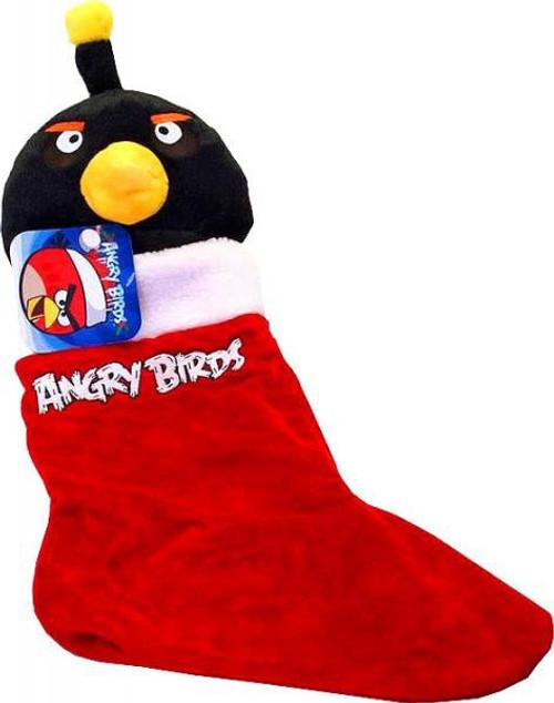 Angry Birds Black Bird Christmas Stocking