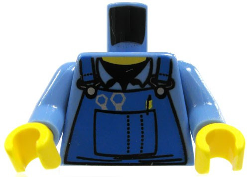 LEGO Mechanic Shirt with Blue Overalls Loose Torso [Loose]