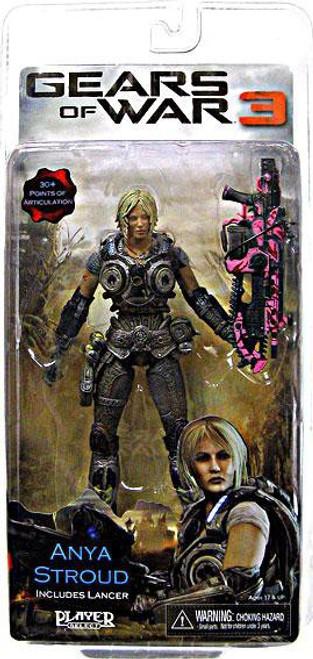 NECA Gears of War 3 Anya Stroud Action Figure [Pink Lancer]