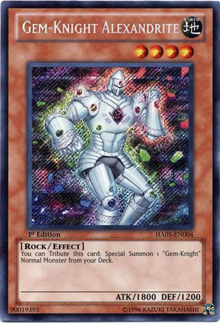 YuGiOh YuGiOh 5D's Hidden Arsenal 5: Steelswarm Invasion Secret Rare Gem-Knight Alexandrite HA05-EN004