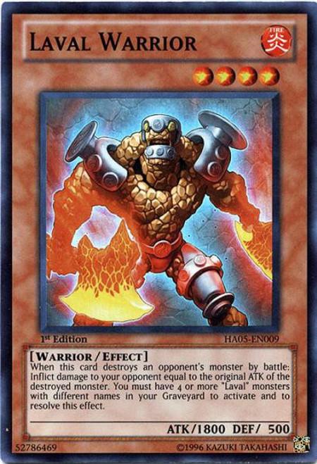YuGiOh YuGiOh 5D's Hidden Arsenal 5: Steelswarm Invasion Super Rare Laval Warrior HA05-EN009