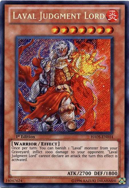 YuGiOh YuGiOh 5D's Hidden Arsenal 5: Steelswarm Invasion Secret Rare Laval Judgment Lord HA05-EN014