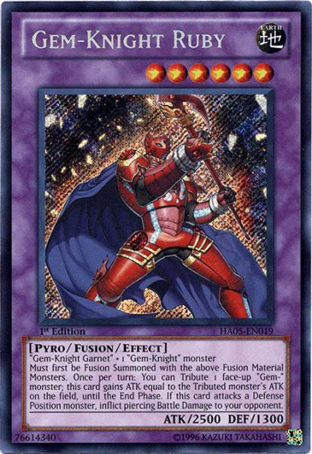 YuGiOh YuGiOh 5D's Hidden Arsenal 5: Steelswarm Invasion Secret Rare Gem-Knight Ruby HA05-EN019
