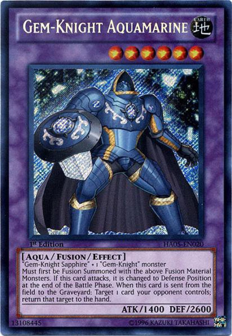 YuGiOh YuGiOh 5D's Hidden Arsenal 5: Steelswarm Invasion Secret Rare Gem-Knight Aquamarine HA05-EN020