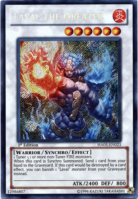 YuGiOh YuGiOh 5D's Hidden Arsenal 5: Steelswarm Invasion Secret Rare Laval the Greater HA05-EN023