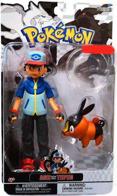 Pokemon Black & White Trainer Figures Ash with Tepig Exclusive Action Figure
