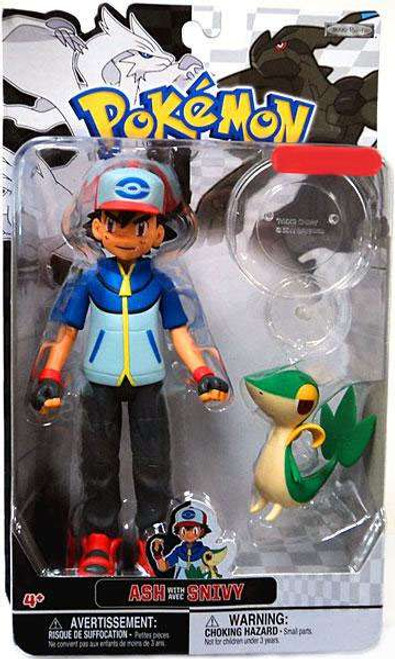 Pokemon Black & White Trainer Figures Ash with Snivy Exclusive Action Figure