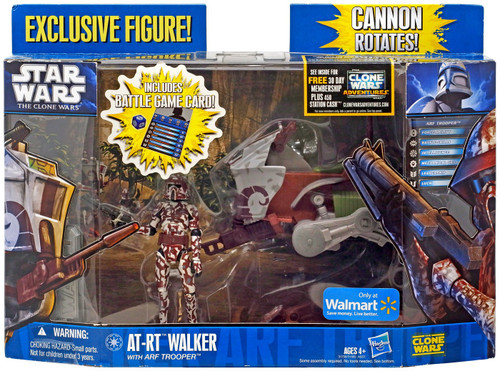 Star Wars The Clone Wars AT-RT Walker with ARF Trooper Exclusive Vehicle & Action Figure