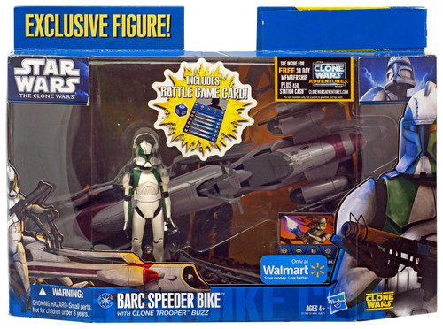 Star Wars The Clone Wars Barc Speeder Bike with Clone Trooper Buzz Exclusive Vehicle & Action Figure