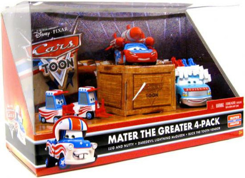 Disney / Pixar Cars Cars Toon Multi-Packs Mater the Greater 4-Pack Diecast Car Set [Set #4]