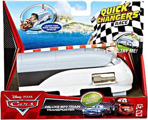 Disney / Pixar Cars Cars 2 Quick Changers Race Deluxe Spy Train Transporter Diecast Car Playset