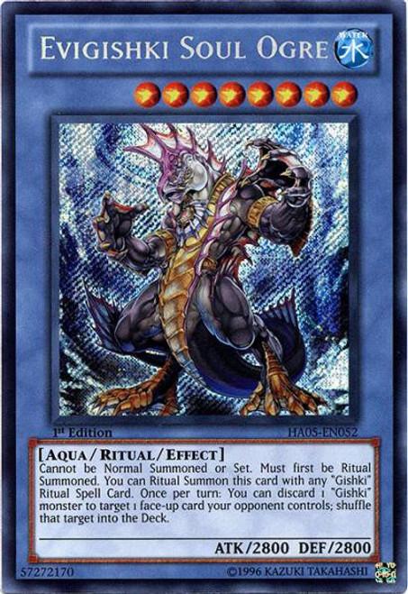 YuGiOh YuGiOh 5D's Hidden Arsenal 5: Steelswarm Invasion Secret Rare Evigishki Soul Ogre HA05-EN052
