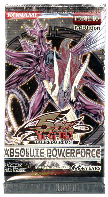 YuGiOh Trading Card Game Absolute Powerforce (1st Edition) Booster Pack [9 Cards]