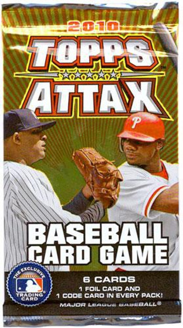 MLB Trading Card Game 2010 Attax Baseball Booster Pack [6 Cards!]
