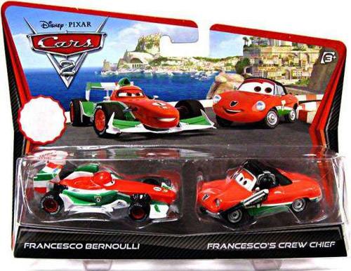 Disney / Pixar Cars Cars 2 Francesco Bernoulli & Francesco's Crew Chief Exclusive Diecast Car 2-Pack