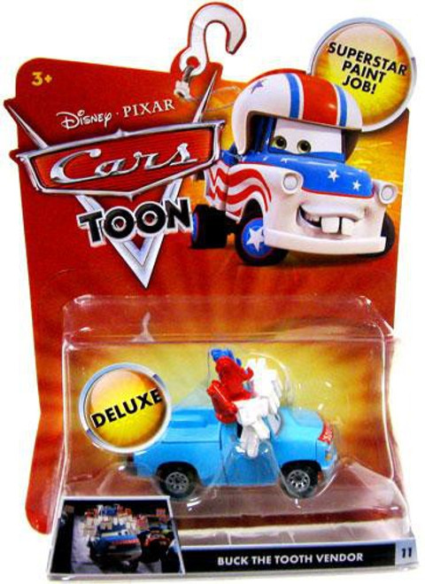 Disney / Pixar Cars Cars Toon Deluxe Oversized Buck the Tooth Vendor Diecast Car