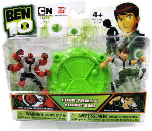 Ben 10 Four Arms & Young Ben 2.5-Inch Mini Figure 2-Pack