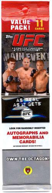 UFC Ultimate Fighting Championship 2010 Round 3 Main Event Trading Card VALUE Pack [11 Cards]