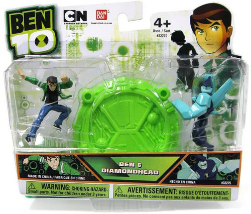 Ben 10 Ben & Diamondhead 2.5-Inch Mini Figure 2-Pack
