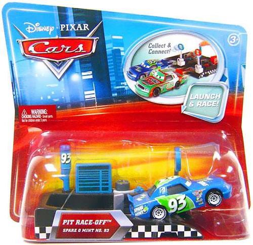 Disney / Pixar Cars Pit Row Race-Off Spare O Mint No. 93 Diecast Car [Includes Launcher]