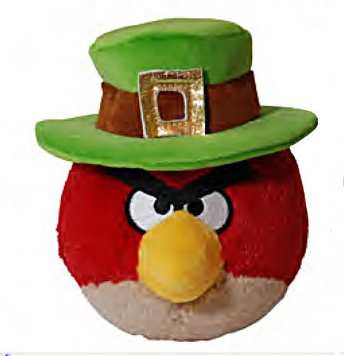 Angry Birds Red Bird 5-Inch Plush [St. Patrick's Day]