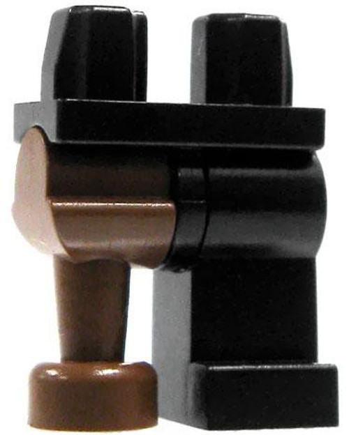 LEGO Black with Brown Peg Leg Loose Legs [Loose]