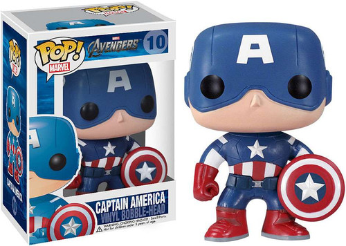 Funko Avengers POP! Marvel Captain America Vinyl Bobble Head #10 [Avengers]