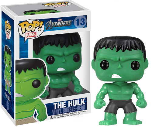 Funko Avengers POP! Marvel The Hulk Vinyl Bobble Head #13 [Black Pants]