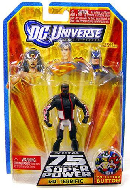 DC Universe 75 Years of Super Power Infinite Heroes Mr. Terrific Action Figure