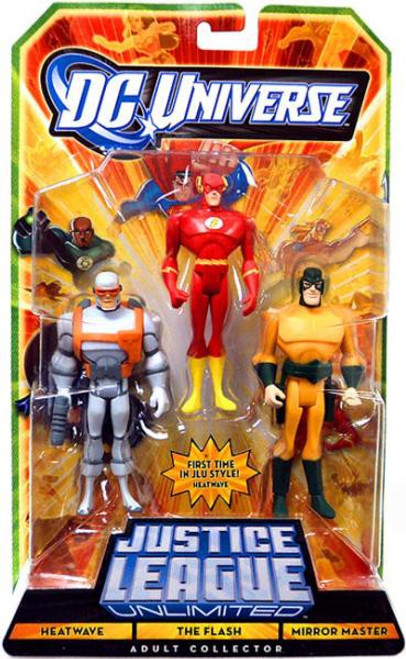 DC Universe Justice League Unlimited Heatwave, The Flash & Mirror Master Action Figures