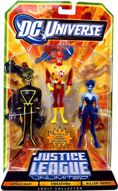 DC Universe Justice League Unlimited Angle Man, Firestorm & Killer Frost Action Figures