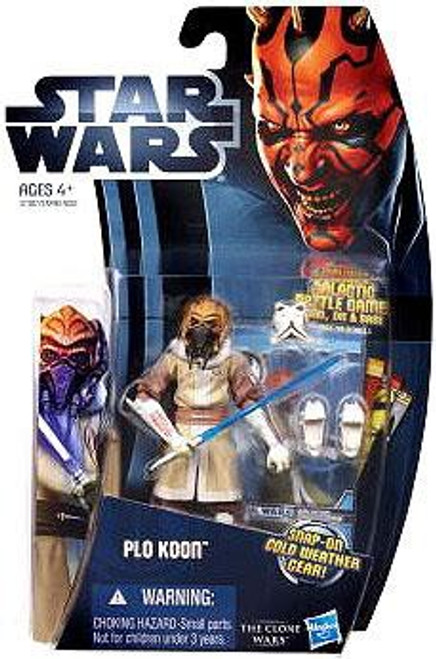 Star Wars The Clone Wars 2012 Plo Koon Action Figure CW06 [Cold Weather Gear]